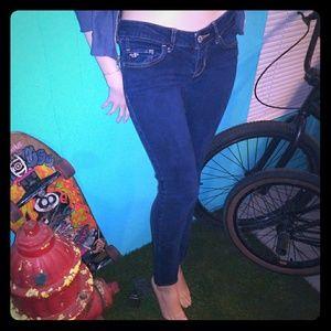 barely worn dark hollister skinny stretch jeans